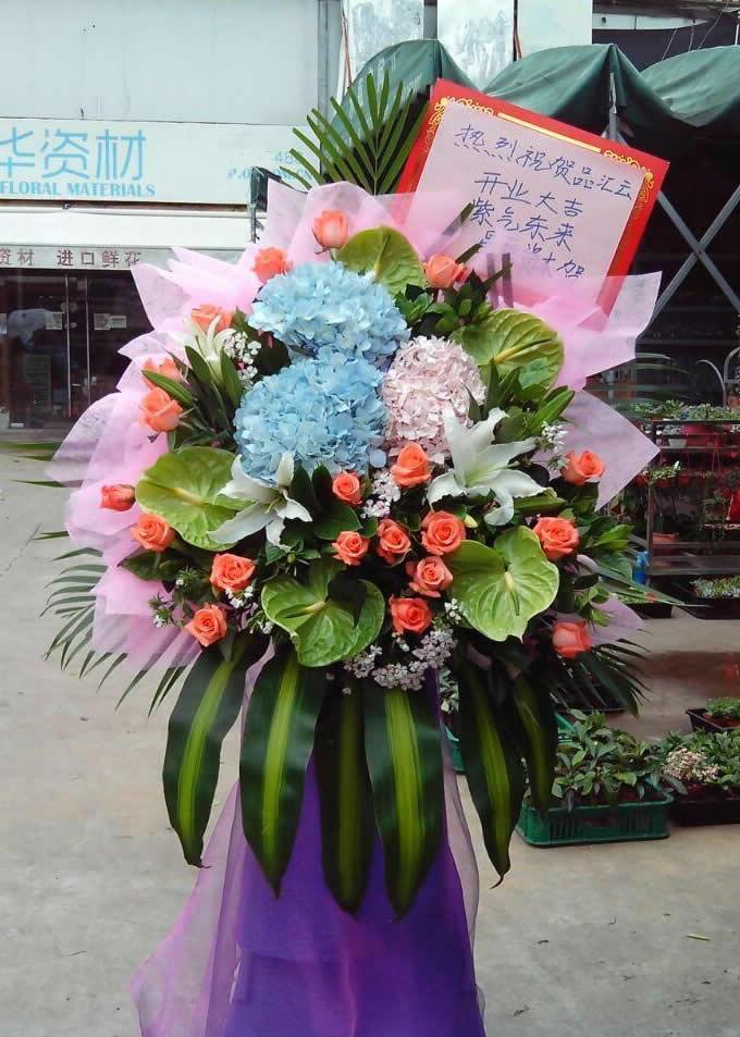 石夏兰日式花篮,服装,卖场鲜花鲜花图片展示。