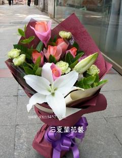 石夏兰送给宝宝妈鲜花图片展示