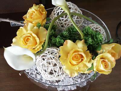 石夏兰高仿真花大堂摆放仿真花艺鲜花图片展示。