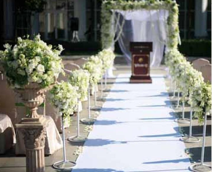 石夏兰白玫瑰路引,西式,婚礼鲜花,高贵,婚礼,首选,精选,白玫瑰,路引,价格每个268.00元鲜花图片展示