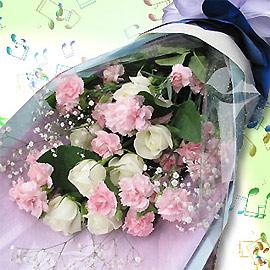 石夏兰长辈生日【青春的音符】鲜花图片展示