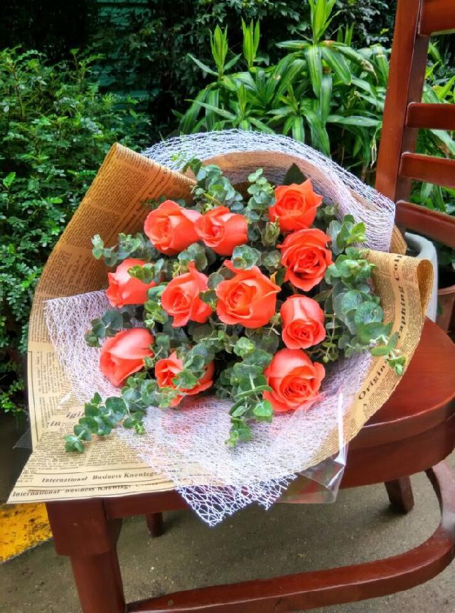 石夏兰爱情鲜花速递,我只属于你,11朵粉玫瑰,高端时尚,深圳鲜花速递,生日玫瑰花束,11朵粉色玫瑰,尤佳利鲜花图片展示。