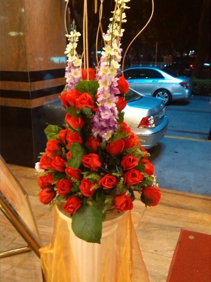石夏兰仿真花篮开业花篮鲜花图片展示。