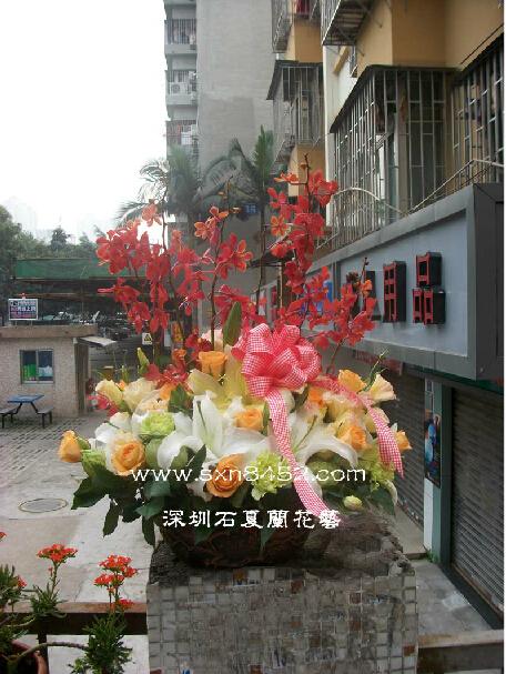 石夏兰商务送礼花篮鲜花图片展示。