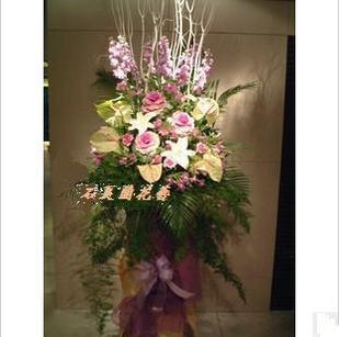 石夏兰八方来客,餐饮,酒楼,开业花篮鲜花图片展示。